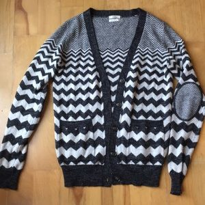 Madewell Wallace elbow patch cardigan, size XS